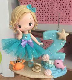 Genuine Porcelain China Made In Japan Refferal: 7228760817 Polymer Clay Animals, Polymer Clay Dolls, Polymer Clay Crafts, Barbie Birthday, Mermaid Birthday, Cake Templates, Ballerina Cakes, Fondant Cupcake Toppers, Mermaid Cakes