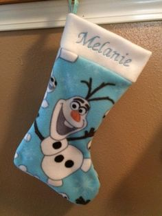 Items similar to Olaf Fleece or Flannel Christmas Stocking with Name on Etsy Christmas Stockings With Names, New Caney, Olaf, Flannel, Handmade Items, Holiday Decor, Etsy, Products, Flannels