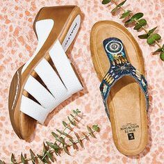 White Mountain ladies summer shoes sandals. Find the perfect footwear for this summer.
