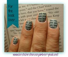 Calling all readers! #Authors and #writers ! Did you know your book cover can become perfect-every-time nail art?? Ask me! www.kristichristensen.jamberrynails.net