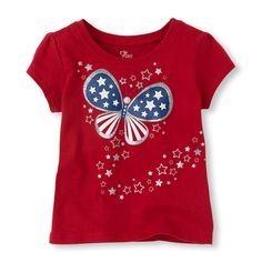 USA butterfly graphic tee (Children's Place 6m-5T)