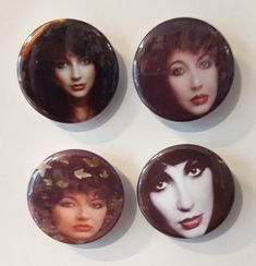 Set of 4 Button Badges. Size: 25 cm (1 inch). Button Badge, Badges, This Is Us, Buttons, Badge, Knots, Lapel Pins, Plugs