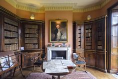 The Library Library Study Room, Study Room Design, Study Rooms, Room Interior Design, Belton House, Classic Library, Cosy Corner, Home Libraries, Classic Interior