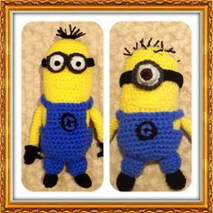 Crochet minions from Despicable Me