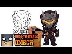 how to draw fortnite omega - easy drawings of fortnite skins
