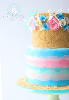 Cute beach inspired cake ♥