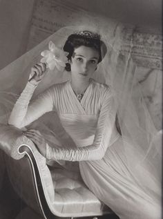"1940's Wedding Gown by Mabel McIlvain Downs found in ""Vintage Weddings"" by Marnie Fogg"