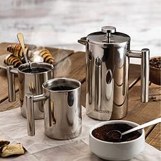Best French Press Coffee Makers Reviews 2020: Top-Rated, Recommendations & Buying Guide Pod Coffee Makers, Coffee Pods, Drip Coffee Maker, Stainless Steel French Press, Stainless Steel Coffee Mugs, 16 Oz Coffee Mugs, Coffee Set, Best French Press Coffee, Coffee Maker Reviews