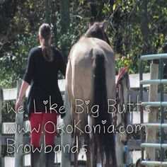 I like big horse butts, and I can not lie. Brought to you by Oko Konia artisan browbands. www.okokonia.com http://www.etsy.com/shop/OkoKonia?ref=ss_profile