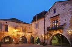 Bastide du Village de Monpazier, Périgord, Dordogne, France