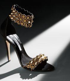Brian Atwood Stunning Gold Sandal Resort 2014 #Shoes #Heels
