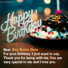 1000 Images About Happy Birthday Wishes With Name On