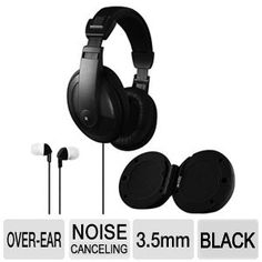 3 In One Headphone Earbud Speaker Combo - Noise Reduction DJ-Style Headphones, MP3 speakers, Noise Isolating In-Ear Earbuds, Black