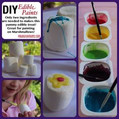 DIY Edible Paints - Just two ingredients can bring so much YUMMY FUN!!