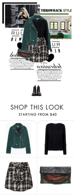 """Dr. Martens"" by veronicamastalli ❤ liked on Polyvore featuring Zara, Pink Tartan, Ash, Dr. Martens and throwbackstyle"