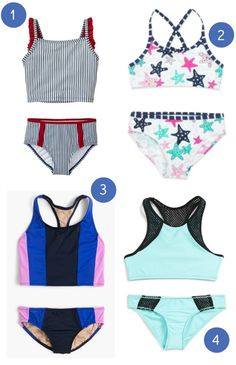 Our favorite modest two-piece swimsuits for sporty girls.