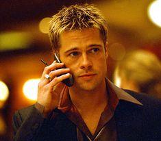 Brad Pitt als Rusty Ryan in Ocean's Eleven ~ 2001 Angelina Jolie, Brad And Angelina, George Clooney, Jennifer Aniston, Brad And Jen, Oceans 11, I Love Cinema, Film Serie, American Actors