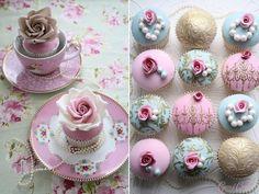 Raffinement, le cupcake devient objet de décoration.