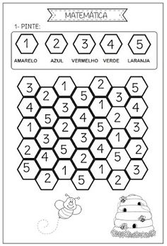 Preschool Themes, Toddler Activities, Activities For Kids, Worksheet For Nursery Class, English Book, Math For Kids, Toddler Learning, Letters And Numbers, Pre School