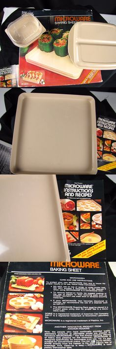 Microwave Cooking Gadgets 20633: 3 Pieces Vintage Anchor Hocking Microware Baking Sheet Casserole Dish Individual -> BUY IT NOW ONLY: $36.95 on eBay!