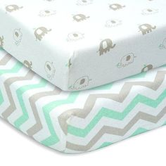 CUDDLY CUBS Set of 2 Jersey Cotton Fitted Crib Sheets     Product Description:     SUPER SOFT - Unlike other fabrics, 100% cotton jersey k...