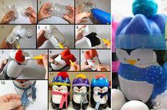 Penguins-platic-bottles