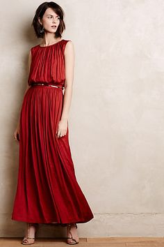 Love for the holidays...and spring...and layered under a black blazer. Caya Maxi Dress #anthropologie