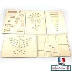 Planche d'encastrement pour réglettes cuisenaire (5 modèles) Goula, Lego, Education, Fabric, School, Woodwind Instrument, Tejido, Tela, Cloths