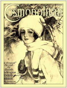 1918 January Cover Cosmopolitan art by Harrison Fisher