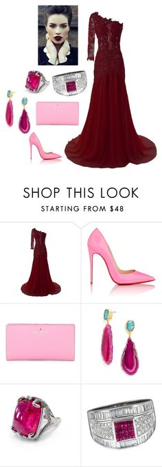 """""""red carpet"""" by miumiu-mi-1 on Polyvore featuring Christian Louboutin, Kate Spade, BaubleBar and Serena Fox"""