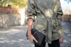 MANGO Clutch with Zipper – Clutch with decorative zips at front, detachable strap, interior pocket and top zip fastening. Mango Fashion, Military Jacket, Zipper, Shirt Dress, Bliss, Jackets, Stuff To Buy, Shirts, Adventure