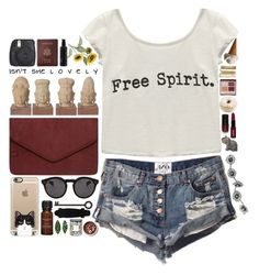 """""""Free Spirit"""" by puhizaxox ❤ liked on Polyvore featuring Dorothy Perkins, Casetify, Illesteva, Royce Leather, Wet Seal, True Religion, Aromatherapy Associates, Pier 1 Imports, St. Tropez and CC"""