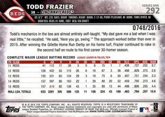 2016 Topps - Gold #292 Todd Frazier Back
