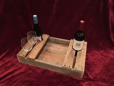 Rustic Wine Glass and Wine Bottle Wooden Serving Tray by AmbroseCraftsStore on Etsy https://www.etsy.com/listing/470297272/rustic-wine-glass-and-wine-bottle-wooden