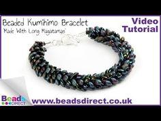 How To Make a Kumihimo Bead Bracelet Using Long Magatama Beads by Eva Maria Keiser