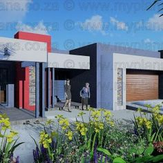 3 Bedroom House Plan – My Building Plans South Africa My Building, Building Plans, Double Garage, Bedroom House Plans, Square Meter, Open Plan Living, Paint Ideas, Living Area, Mlb