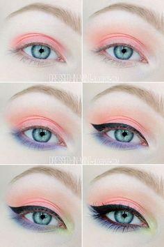 Makeup tutorial eyeshadow peach ideas for 2019 Make-up Tutorial Lidschatten Pfirsich I Eyeliner, Eyeshadow Makeup, Smokey Eye Makeup, Makeup Cosmetics, Purple Eyeshadow, Glitter Eyeshadow, Eyeshadow Palette, Eyeshadow Guide, Eyeshadow Techniques
