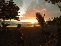 Au Pair catching sunset from a beach park in Hawaii, Big Island Adventure, Au Pair travel