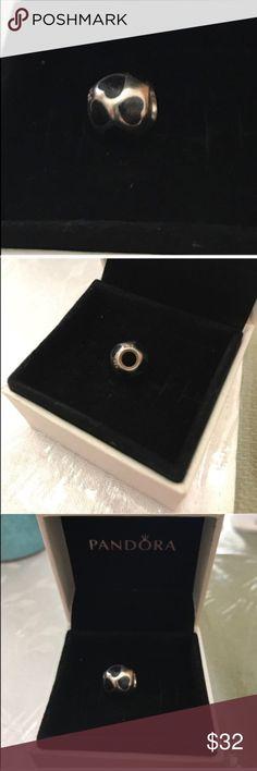 Pandora black enamel hearts charm Pandora black enamel hearts charm Pandora Jewelry Bracelets