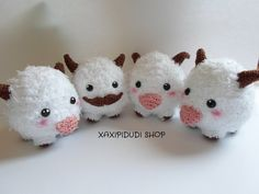 Llavero Amigurumi Poro League of Legends II by Xaxipidudi.deviantart.com on @DeviantArt