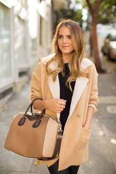 More structured jacket, but with casual relaxed look - Black and camel