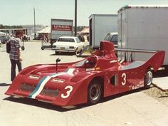 Geoff Brabham's VDS Lola T530 in the paddock at Watkins Glen in 1980. Copyright Shaun Lumley 2000. Used with permission.