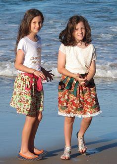 Christmas skirts for my girls