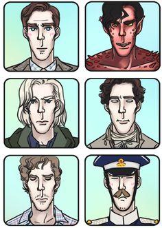 Click thru for Enerjax's Many Faces of Benedict Cumberbatch