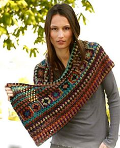 Crochet Woodland Infinity Cowl Women's outerwear by StoneThicket