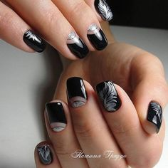 The phases of Moon on Matte Black Nails. If you want your nails to look pretty as moon, try this nail art design that is phenomenally representing the different phases of moon on the nails.