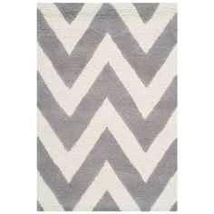 Safavieh CAM139D Cambridge Wool Hand Tufted Silver/Ivory Rug