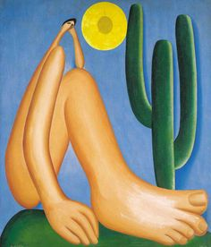 ABAPORU(1928) - Óleo sobre tela - Tarsila do Amaral. Simbolo maior da arte modernista brasileira!          ABAPORU(1928) - Oil on canvas - Tarsila do Amaral.   Symbol of the largest Brazilian modernist art!