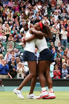 Sister Power = 3-Times GOLDEN!   Venus & Serena Williams celebrate their 3rd Olympic GOLD medal in women's doubles. Day 9