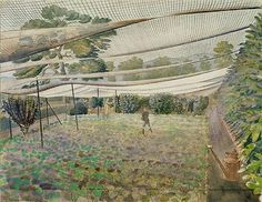 Eric Ravilious 'Strawberry nets'